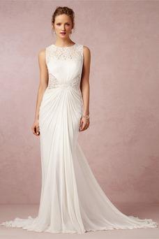 Vestido de novia Clasicos largo Natural Verano Joya Plisado