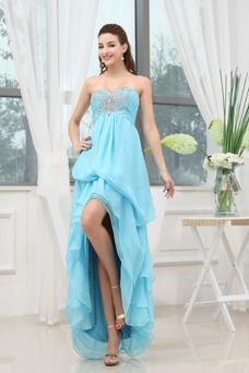 Vestido de fiesta Elegante Asimètrico Alto Bajo Asimétrico Dobladillo