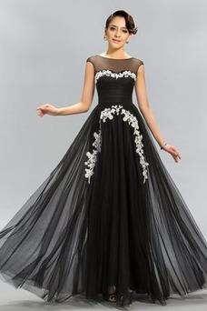 Vestido de noche Elegante primavera Cremallera Falta Hasta el suelo