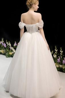 Vestido de novia Fuera de casa Drapeado Corte-A Hasta el suelo Sin mangas