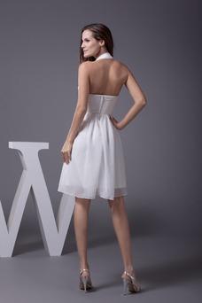 Vestido de graduacion Gasa Espalda Descubierta Verano Cristal Escote halter