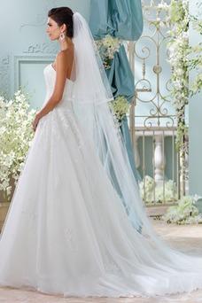 Vestido de novia Sin tirantes primavera Cola Capilla Sin mangas Formal