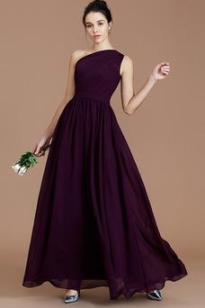 Vestido de dama de honor Espalda medio descubierto Natural Sin mangas Corte-A