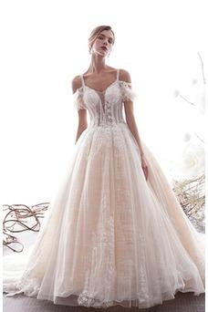 Vestido de novia Apliques Manga tapada Fuera de casa Natural largo vendimia