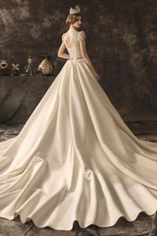 Vestido de novia Falta Natural Espectaculares Otoño Corte-A Cordón