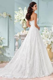 Vestido de novia Apliques Cremallera Clasicos Corte-A largo Sala
