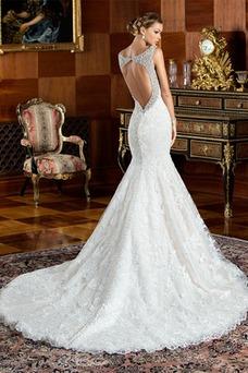 Vestido de novia Corte Sirena Cremallera Cristal Cola Capilla Colores