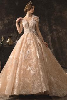 Vestido de novia Joya Espectaculares Encaje Manzana Iglesia Natural