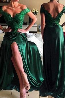 Vestido de fiesta Corte-A Frontal Dividida Espalda Descubierta Moderno