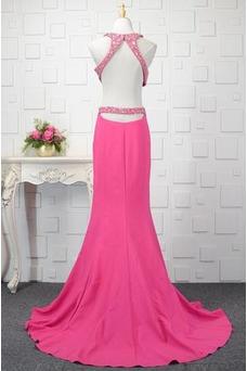 Vestido de fiesta Colores Corpiño Acentuado con Perla Natural Abalorio