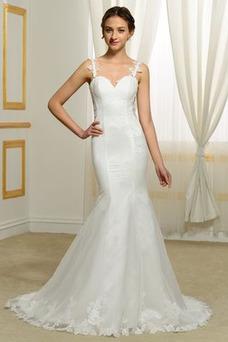 Vestido de novia Corte Sirena Espalda Descubierta Tiras anchas Cintura Baja