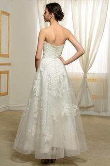 Vestido de novia Sin tirantes Natural Manzana Espalda Descubierta Elegante