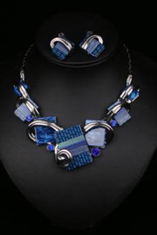 Flores cristal caliente collar y colgante de plata de la venta de mujeres