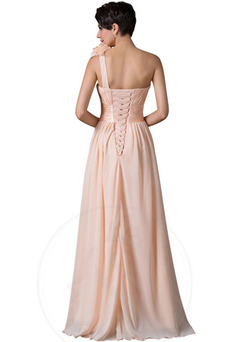 Vestido de noche primavera Drapeado Blusa plisada Gasa Espalda Descubierta