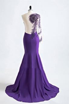 Vestido de noche Corte Sirena Un sólo hombro Espalda Descubierta Drapeado