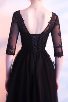 Vestido de fiesta Tallas grandes tul Otoño Natural Oscilación Corte-A