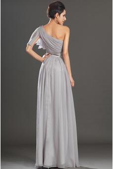 Vestido de noche Elegante Verano Drapeado Hasta el suelo Corte-A Gasa