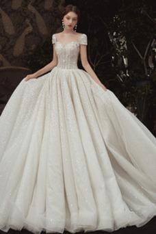 Vestido de novia Invierno Escote sexy Sala Natural Falta Cordón
