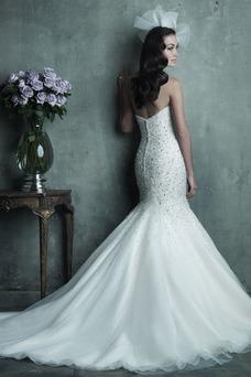 Vestido de novia Corte Sirena Sala Espalda Descubierta Natural Organza