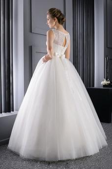 Vestido de novia Colores Cinturón de cuentas Bola Sin mangas primavera