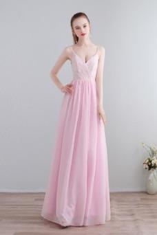 Vestido de dama de honor Verano Sin mangas Corte-A Hasta el Tobillo Espalda Descubierta