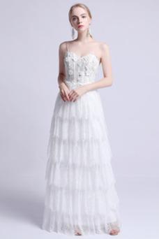 Vestido de novia Romántico Corte-A Falta Espalda Descubierta Encaje