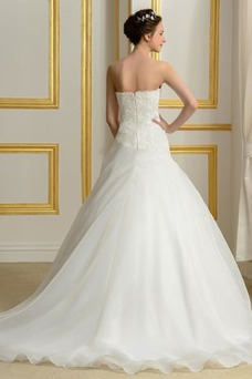 Vestido de novia Capa de encaje Sin mangas primavera Espalda Descubierta