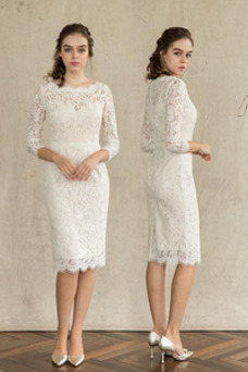 Vestido de novia Capa de encaje Encaje Encaje Natural Corte-A Camiseta