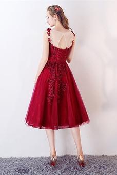 Vestido de fiesta Oscilación Abalorio Capa de encaje Cordón Glamouroso