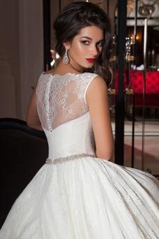 Vestido de novia Sala Clasicos Natural Corte-A Otoño Cinturón de cuentas