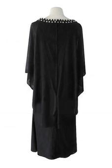 Vestido de madrina Falta Manga suelta Manga corta Imperio Alto cubierto