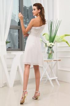 Vestido de fiesta Corto Escote Asimètrico Natural Espalda medio descubierto