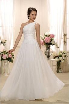 Vestido de novia Espalda medio descubierto Blusa plisada Fuera de casa