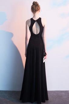 Vestido de noche Elegante Reloj de Arena Hasta el Tobillo Natural Corte-A