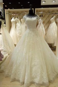 Vestido de novia Corte princesa Natural largo Falta Cordón Apliques