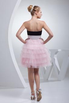 Vestido de cóctel Espalda Descubierta Corto Corte-A Sin mangas Natural
