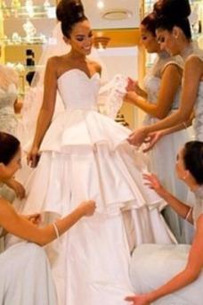 Vestido de novia Sencillo Sin mangas Cremallera Natural Fuera de casa