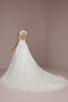 Vestido de novia Encaje Cremallera primavera Sala Natural tul