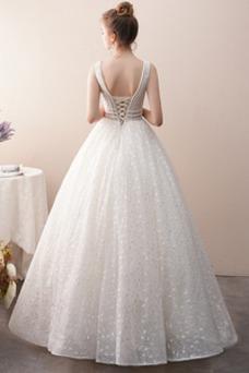 Vestido de novia Espectaculares Pera Natural Hasta el Tobillo Corte-A