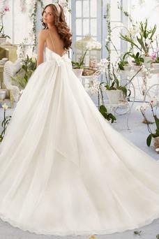 Vestido de novia tul Escote de Tirantes Espaguetis Corte-A Sala Cristal