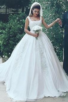 Vestido de novia Recatada largo Cremallera Iglesia primavera Formal