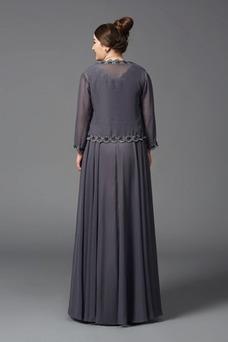 Vestido de madrina Gasa Natural Verano Camiseta Falta largo