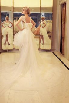 Vestido de novia Playa Asimètrico Asimétrico Dobladillo Verano Glamouroso