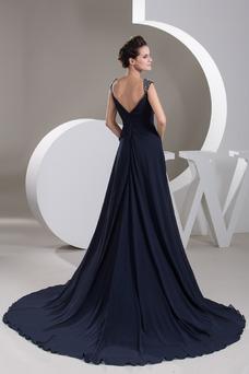 Vestido de noche Hasta el suelo Corte-A Natural Gasa Formal Tiras anchas