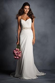 Vestido de novia Sin mangas Espalda medio descubierto Cinturón de cuentas