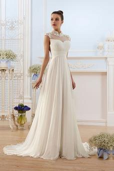 Vestido de novia Elegante Escote con cuello Alto Espalda medio descubierto