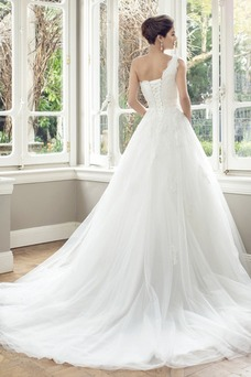 Vestido de novia Formal Espalda medio descubierto largo primavera tul