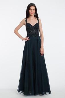 Vestido de fiesta Encaje Elegante Espalda Descubierta Tiras anchas Hasta el suelo