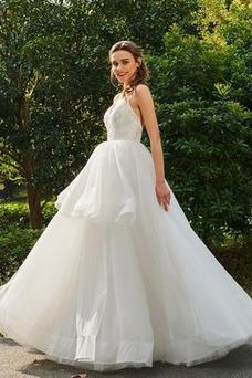 Vestido de novia Otoño Sin mangas Escote de Tirantes Espaguetis Fuera de casa
