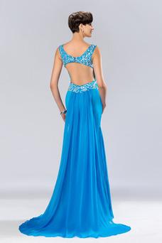 Vestido de fiesta Elegante Espalda Descubierta Corte Sirena Abalorio